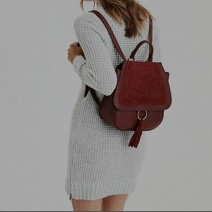 American Eagle Waffle Knit Sweater Dress